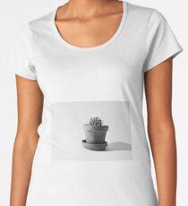 Black and White Cactus Women's Premium T-Shirt