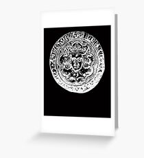 Hammered coin gifts, ideal for coin collectors Greeting Card