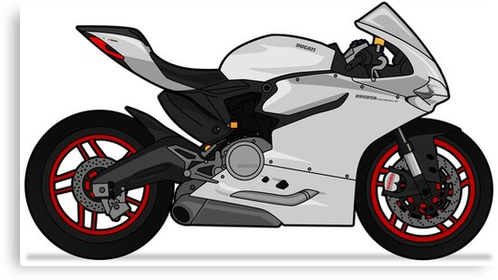 Ducati 899 Panigale White Canvas Prints By Marlonvector Redbubble