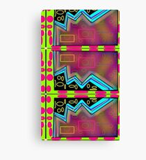 Neon Egg Zone 80's abstract design Canvas Print