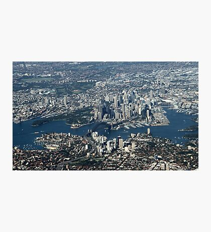 An aerial view of Sydney Photographic Print