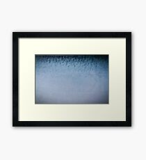 Blue paper , watercolor paper Framed Print