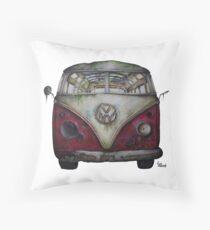 1957 Volkswagen Van- Abandoned Throw Pillow