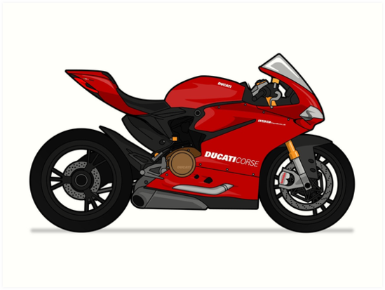Ducati 1299 Panigale S Red Art Prints By Marlonvector Redbubble
