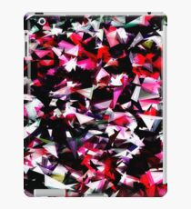 psychedelic geometric triangle polygon abstract pattern in red pink black iPad Case/Skin