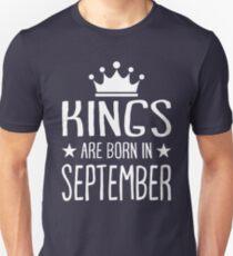 Kings are born in September shirt T-Shirt