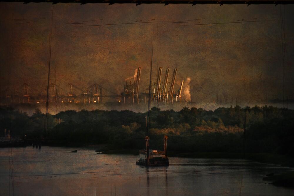 Savannah River Docks by MClementReilly