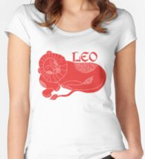 Leo Zodiac Red Lion Women's Fitted Scoop T-Shirt
