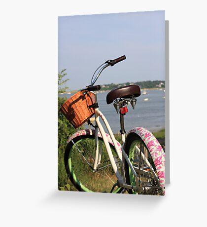 Pink Bike. Greeting Card