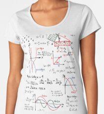 Mathematics Formulas Numbers  Women's Premium T-Shirt