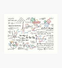 Mathematics Formulas Numbers  Art Print