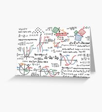 Mathematics Formulas Numbers  Greeting Card