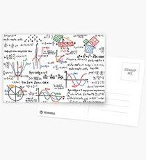 Mathematics Formulas Numbers  Postcards