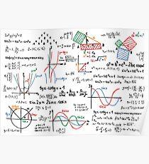 Mathematik Formeln Zahlen Poster