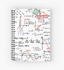 Mathematics Formulas Numbers  Spiral Notebook