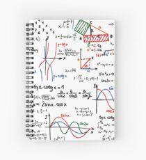 Mathematics Formulas Numbers  Spiral Notebook