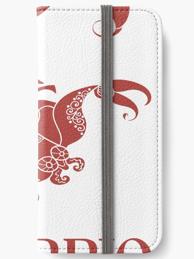 'Scorpio Zodiac Sign' iPhone Wallet by Super Merch