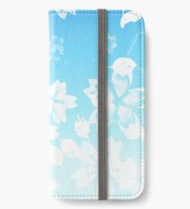 Blue Cherry Blossom iPhone Wallet/Case/Skin