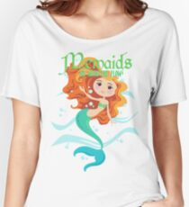Mermaids Go With the Flow Women's Relaxed Fit T-Shirt