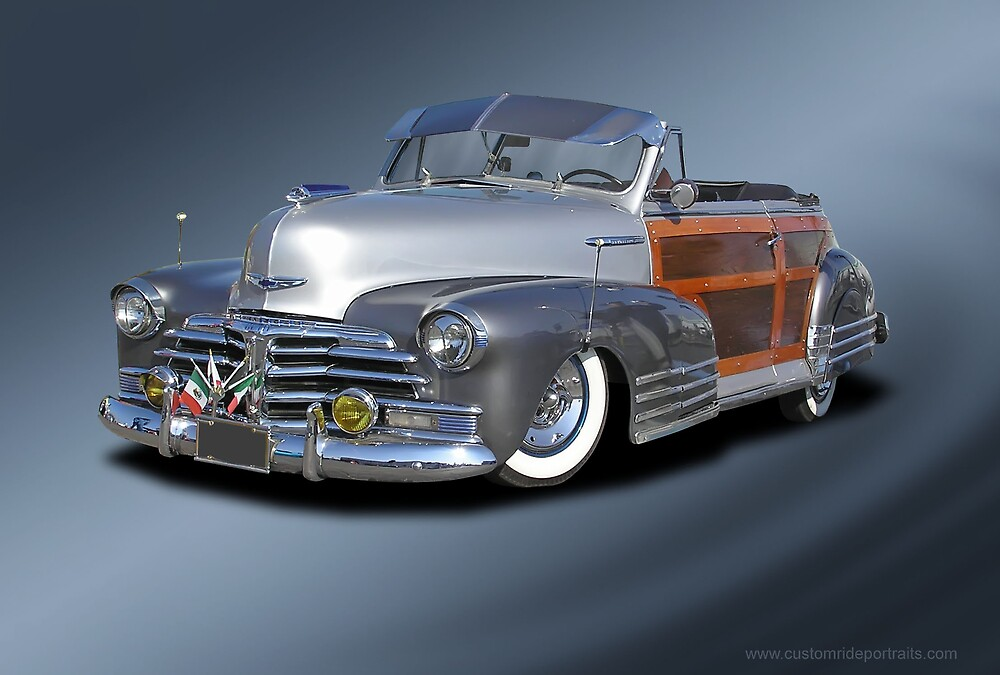 Late 40s? Chevy Woody Convertible (Low Rider) by Chuck Cannova