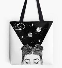 Galaxy Space Girl Tote Bag