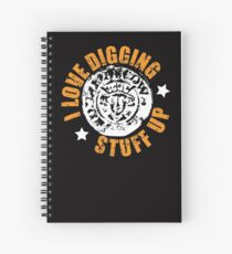 Metal detecting shirt, fun gift idea Spiral Notebook