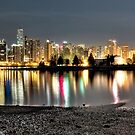 Stanley Park & Vancouver @ Night CROP (HDR Panorama) by James Zickmantel