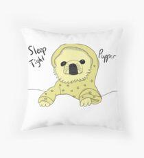 Sleep Tight Pupper Throw Pillow