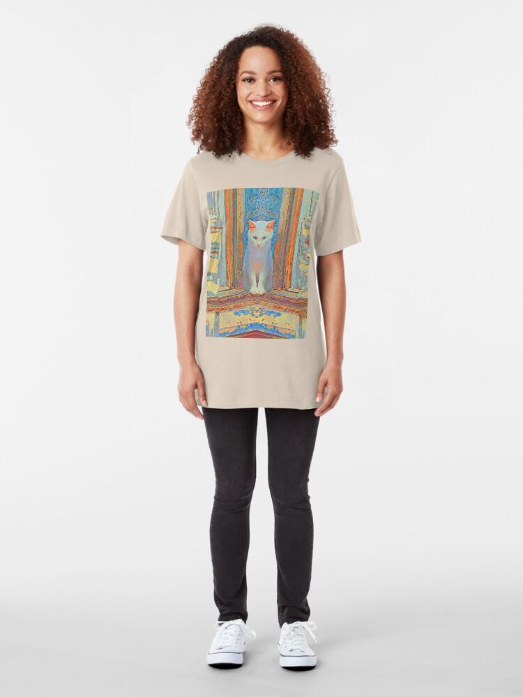 Alternate view of Symmetrical cat Slim Fit T-Shirt
