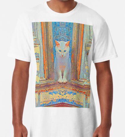 Symmetrical cat Long T-Shirt