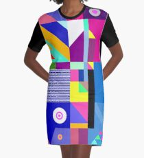 colorful happier life Graphic T-Shirt Dress
