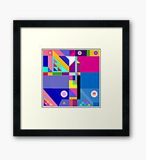 colorful happier life Framed Print