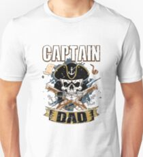 Funny Captain Dad Pirate Lover Fun Halloween Costume T-Shirt