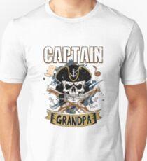 Funny Captain Grandpa Pirate Fun Halloween Costume T-Shirt