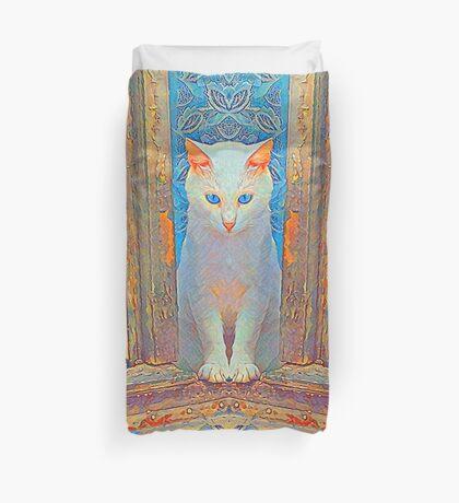 Symmetrical cat Duvet Cover