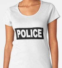 Castle - Kate Beckett - Police Women's Premium T-Shirt