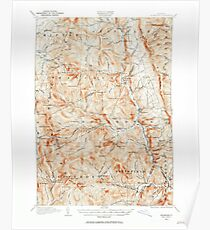 USGS Topo Map  Vermont VT Rochester 338133 1915 62500 Poster