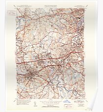 Massachusetts  USGS Historical Topo Map MA Natick 351955 1943 31680 Poster