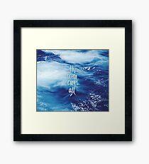 The ocean cures all Framed Print