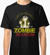 Zombie Invasion Halloween Gift Classic T-Shirt