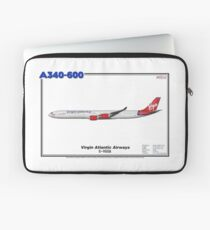 "Airbus A340-600 - Virgin Atlantic Airways ""Old Colours"" (Art Print) Laptop Sleeve"