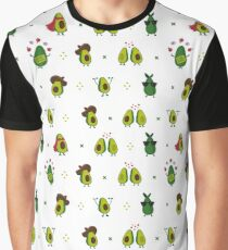Avocado Pattern Graphic T-Shirt