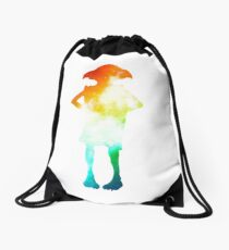 Rainbow Galaxy Dobby Drawstring Bag
