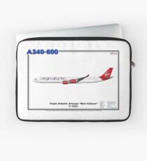 Airbus A340-600 - Virgin Atlantic Airways (Art Print) Laptop Sleeve