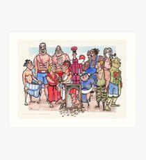 Street Fighter 2 - Reunion Edition Art Print