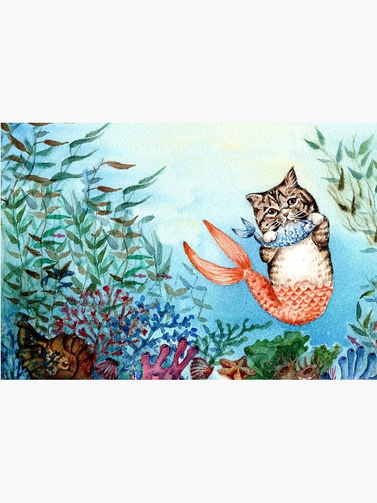 Cute Purrmaid Cat Mermaid  by Goosi