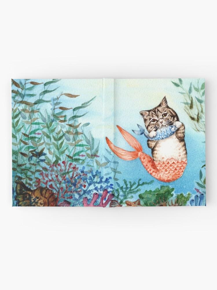 Alternate view of Cute Purrmaid Cat Mermaid  Hardcover Journal