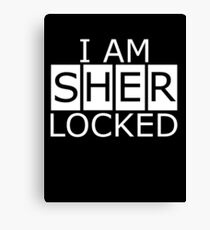 I am SHERLOCKED n.2 Canvas Print