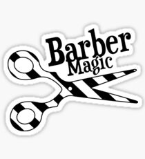 Barber Magic - black and white Sticker