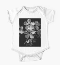 Oleander flowers in black and white One Piece - Short Sleeve